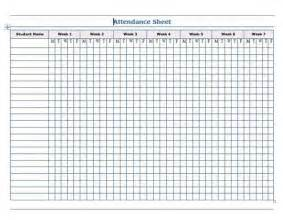 blank attendance sheet template blank weekly attendance calendar template 2016