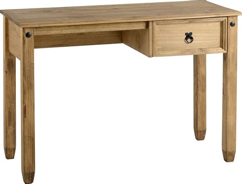 Pine Desk Corona Small 1 Drawer Wooden Computer
