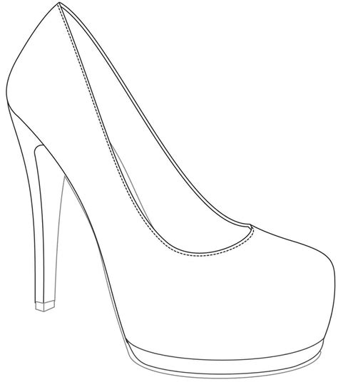 High Heel Shoe Template Craft by High Heel Shoe Template Craft Write Happy Ending