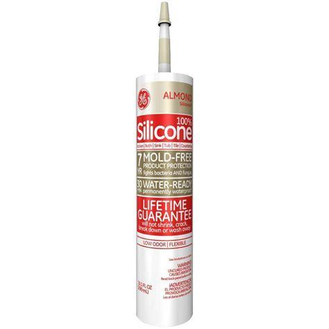 colored bathroom caulk ge silicone ii 10 1 oz almond kitchen and bath caulk