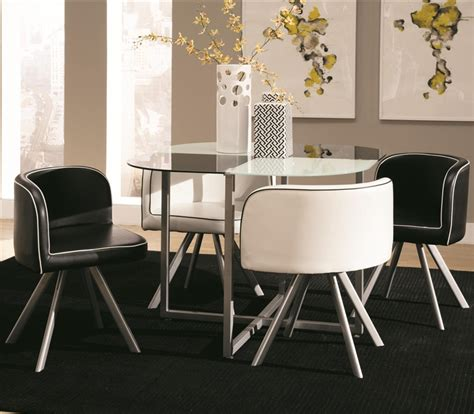 Coaster Dining Table Set Trussell Checkered Motif 5 Dining Table Set By Coaster 150089