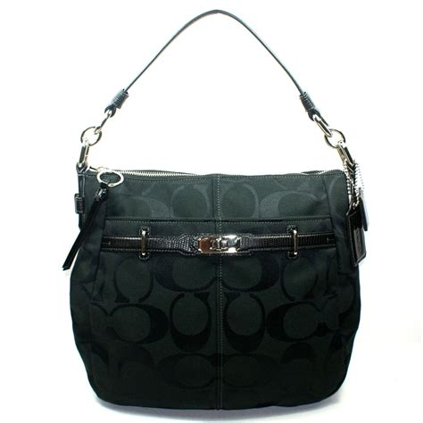 Coach Chelsea Signature Ashlyn Hobo/ Shoulder Bag Black #17834   Coach 17834