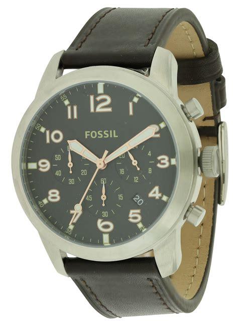 Fossil Fs5143 fossil pilot 54 chronograph leather mens fs5143 ebay