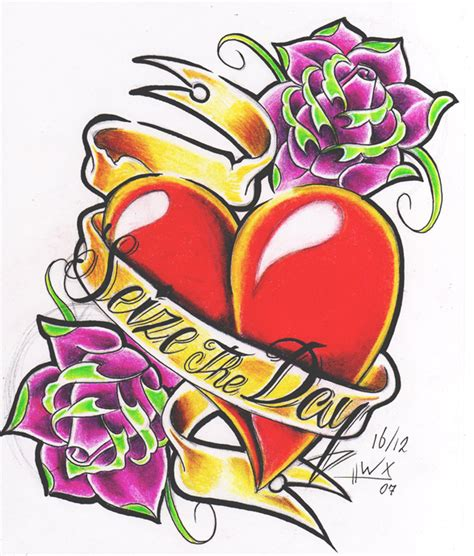 tattoo flash heart by willemxsm on deviantart