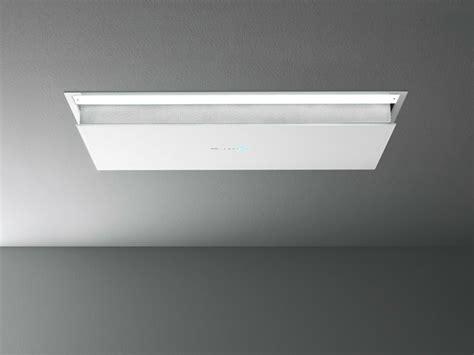 cappe da soffitto cappa a soffitto in acciaio e vetro eclisse by falmec