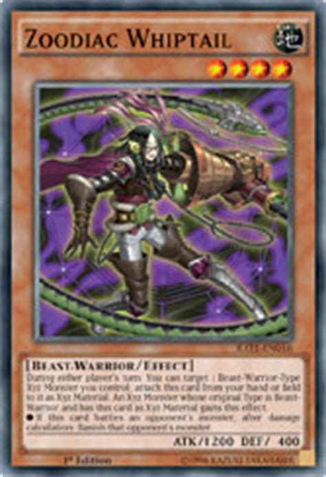 Zoodiac Thoroughblade yu gi oh trading card 187 raging tempest zoo and the zoo rode in on
