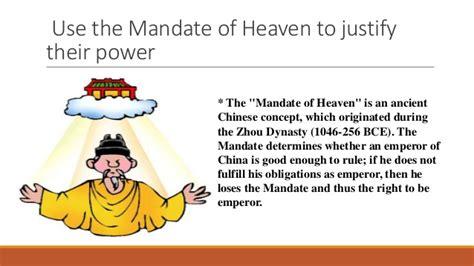 zhou dynasty mandate  heaven