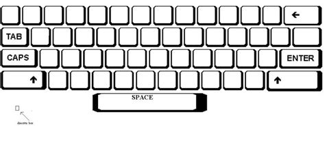 blank keyboard template printable best photos of print blank computer keyboard blank