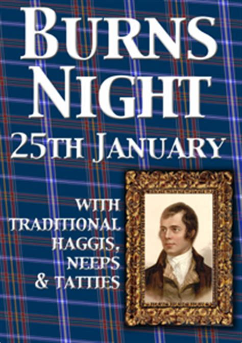 burns supper menu template burns poster template design and print service