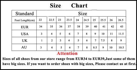 shoe size chart jeffrey cbell dropshipping heels shoes d5354 check plat wholesale