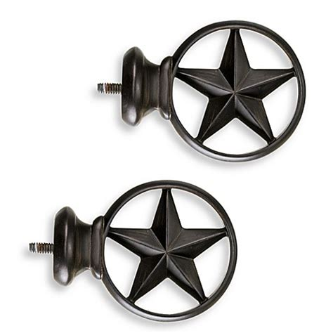 texas star curtain rods buy cambria 174 complete bronze texas star finials set of 2