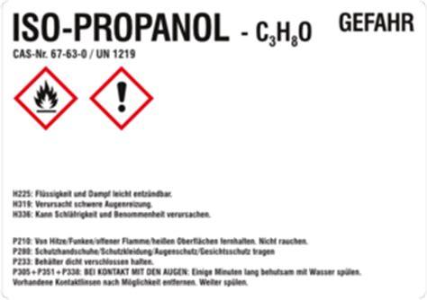 Isopropanol Aufkleber Entfernen by Stoffkennzeichnung Isopropanol Etikettenwissen