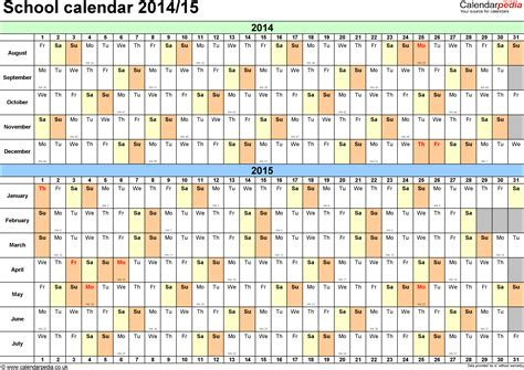 academic calendar templates for 2016 2017