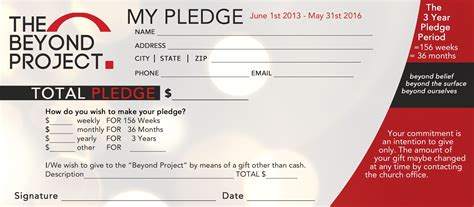 fundraising pledge card template church pledge form template hausn3uc capital caign