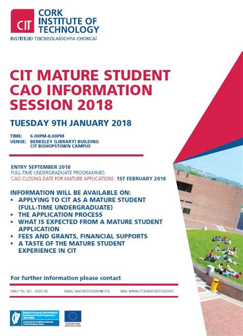 cit cork institute  technology mature students full time courses