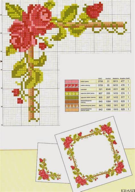 imagenes flores en punto de cruz graficos punto de cruz gratis marcos de fotos arbol