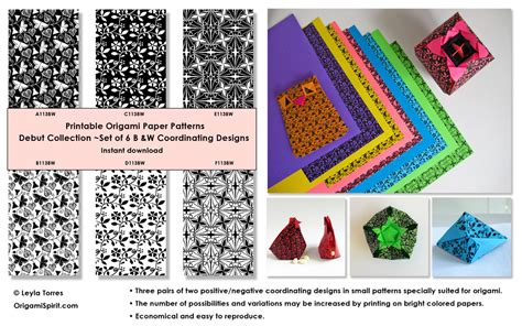 Origami With 8 5x11 Paper - printable origami paper digital design patterns