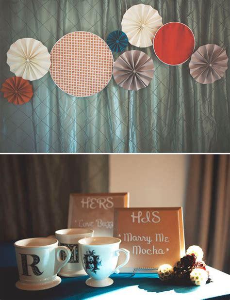 paper fan circle decorations fun stylish circle themed wedding
