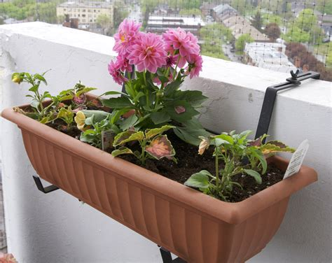 balcony planters brown 187 home decorations insight