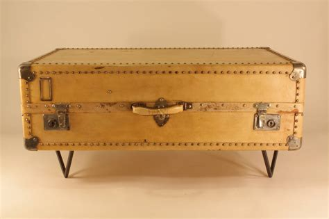 Antique Parchment Suitcase Coffee Table For Sale At 1stdibs Suitcase Coffee Table
