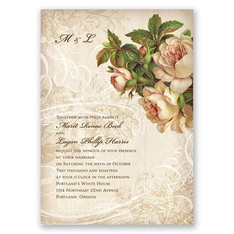 The Wedding Invitation by Boho Flowers Invitation Invitations By