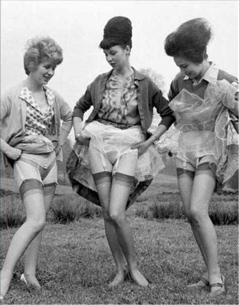 show woman photos in their fifties 1950s lingerie history bra girdle slips panties garters