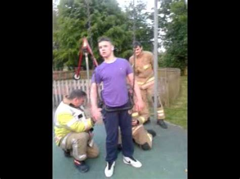 leek swing man stuck in child swing has to be rescued at tittesworth