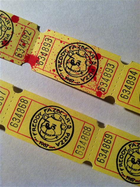 printable pizza tickets contest win a set of retro freddy fazbear pizza arcade