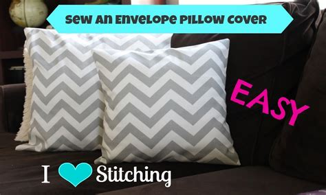 how to make a slipcover for a pillow sew an envelope pillow cover beginner youtube