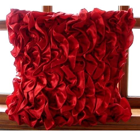 red couch with pillows handmade red cushion covers 16x16 satin pillows