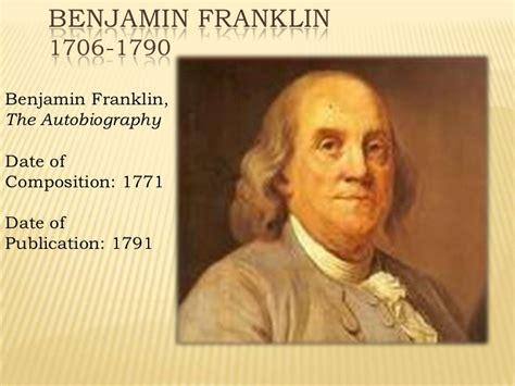benjamin franklin education biography benjamin franklin autobiography part i slide show