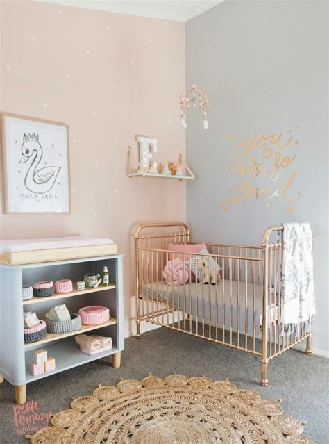 pink nursery tour a sweet peach grey nursery for twins gt 22crowns