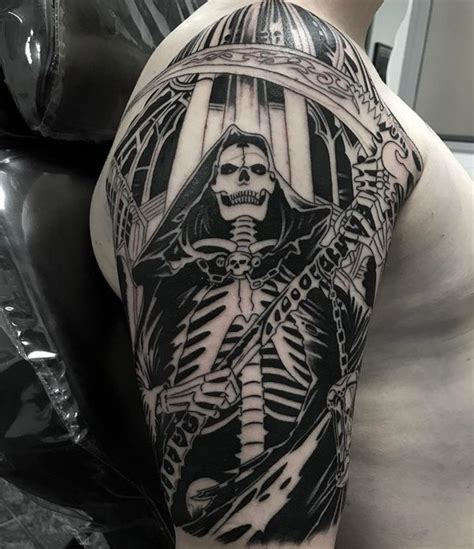 scythe tattoo 45 grim reaper design ideas with meaning