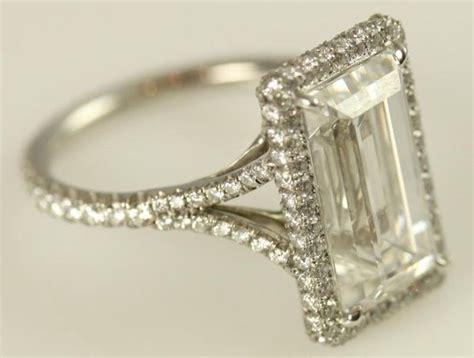 certified 5 carat emerald cut engagement