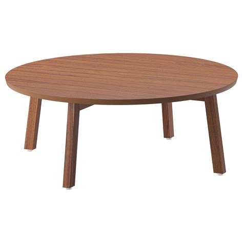 idea coffee table stockholm coffee table walnut veneer 93 cm ikea