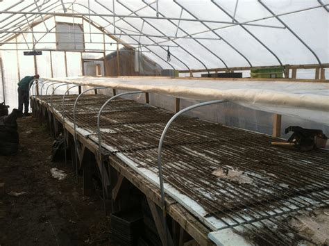 greenhouse bench heating roll top greenhouse bench farm hack