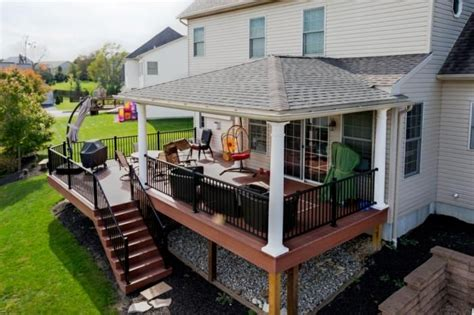Hip Roof With Deck Hip Roof Decks And Roof Deck On