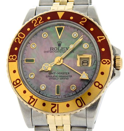 Rolex Gmt Silver Gold Rbgn 03 rolex 2tone 18k yellow gold stainless steel gmt master