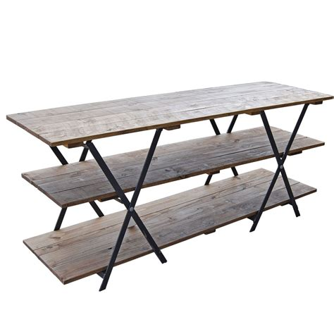 display table the versatile and trestle and table top kit with