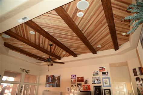 Faux Wood Ceiling by Planks Faux Wood Workshop