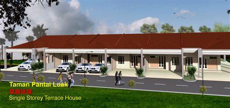 Cement House Plans new single storey terrace house in miri taman pantai luak