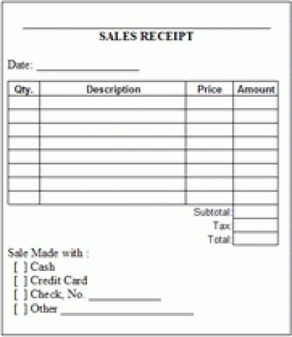 editable receipt template 8 sales receipt templates word excel pdf formats