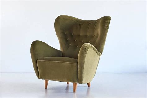 schulz upholstery wingback lounge chair by otto schultz for boet sweden