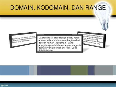 domain range  kodomain relasi  fungsi