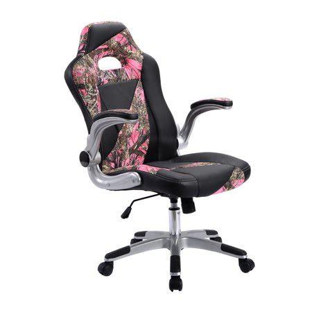 pu leather high  executive office desk task computer chair pink camo walmartcom