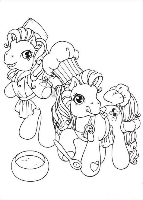 hello pony coloring pages ponies making a cake coloring pages hellokids com