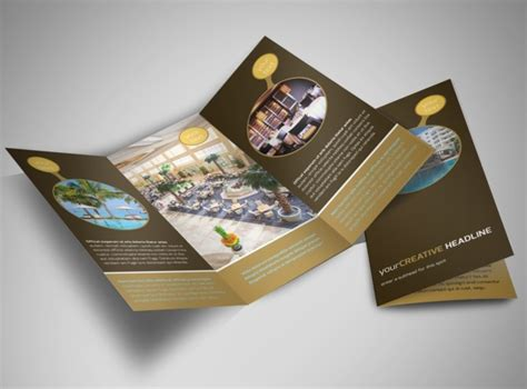 luxury hotel tri fold brochure template 언니오빠 pinterest