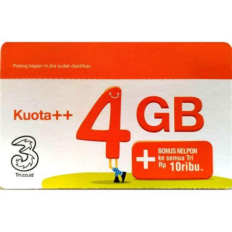 Voucher Three by Three Voucher Kuota 4gb Bonus Nelpon 10rb