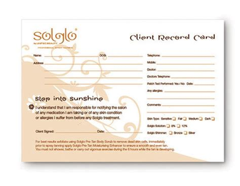client consultation card templates pin client consultation card on