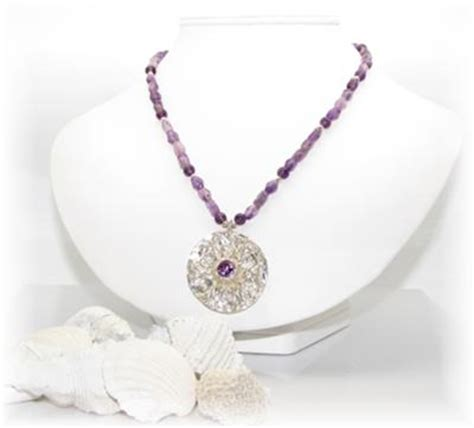 how to make silver clay jewelry amethyst and silver metal clay